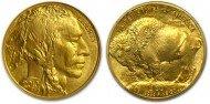 Gouden Buffalo munt (1oz, 31.1 gram, 99.99% puur goud)